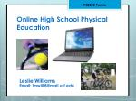 Online High School Physical Education