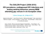 The SIALON Project (2008-2010):