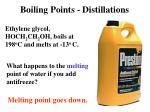 Boiling Points - Distillations