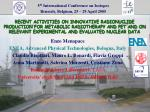 5 th International Conference on Isotopes Brussels, Belgium, 25 – 29 April 2005