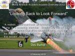 "World Airshow Accident/Incident Overview 2012 ""Looking Back to Look Forward"""