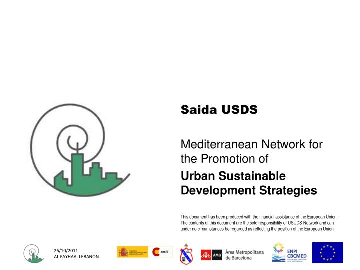 mediterranean network for the promotion of urban sustainable development strategies n.