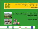 Sustainable Utilization of Natural Resources for Improved Food Security  (SUN-Program)