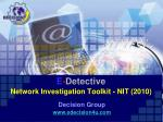 E - Detective Network Investigation Toolkit - NIT (2010)