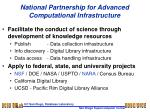 National Partnership for Advanced Computational Infrastructure