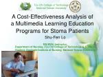 A Cost-Effectiveness Analysis of a Multimedia Learning Education Programs for Stoma Patients