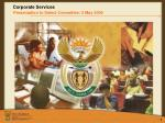 Corporate Services Presentation to Select Committee: 2 May 2006
