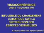 VISIOCONFÉRENCE ORSAY, 15 septembre 2014