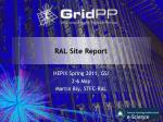 RAL Site Report