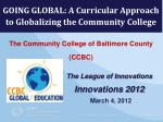The Community College of Baltimore County (CCBC)