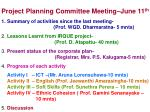 Project Planning Committee Meeting–June 11 th