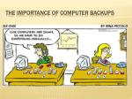 The importance of computer backups