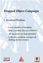 Dropped Object Campaign