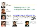 Knowledge-Base Asset Management For WaveRiders