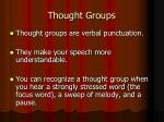 Thought Groups