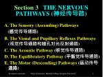 Section 3    THE NERVOUS PATHWAYS ( 神经传导路 )