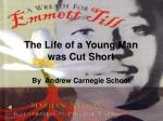 The Life of a Young Man was Cut Short