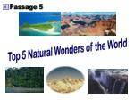 Top 5 Natural Wonders of the World