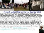 Cranwell Ladies Help for Heroes Calendar 2011