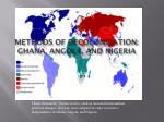 Methods of Decolonization: Ghana, Angola, and Nigeria