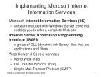 Implementing Microsoft Internet Information Services