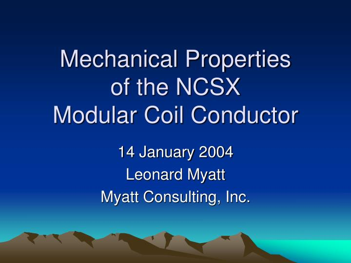 mechanical properties of the ncsx modular coil conductor n.