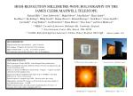 HIGH-RESOLUTION MILLIMETRE-WAVE HOLOGRAPHY ON THE JAMES CLERK MAXWELL TELESCOPE