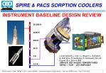 SPIRE & PACS SORPTION COOLERS
