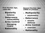 First Nuclear Age, 1945-90s