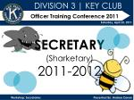 Officer Training Conference 2011