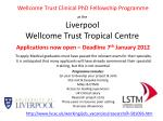 a t the  Liverpool  Wellcome Trust Tropical Centre