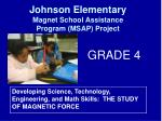 Developing Science, Technology, Engineering, and Math Skills:  THE STUDY OF MAGNETIC FORCE