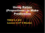 Using  Ratios  (Proportions) to Make  Predictions