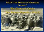 HI136 The History of Germany Lecture 7