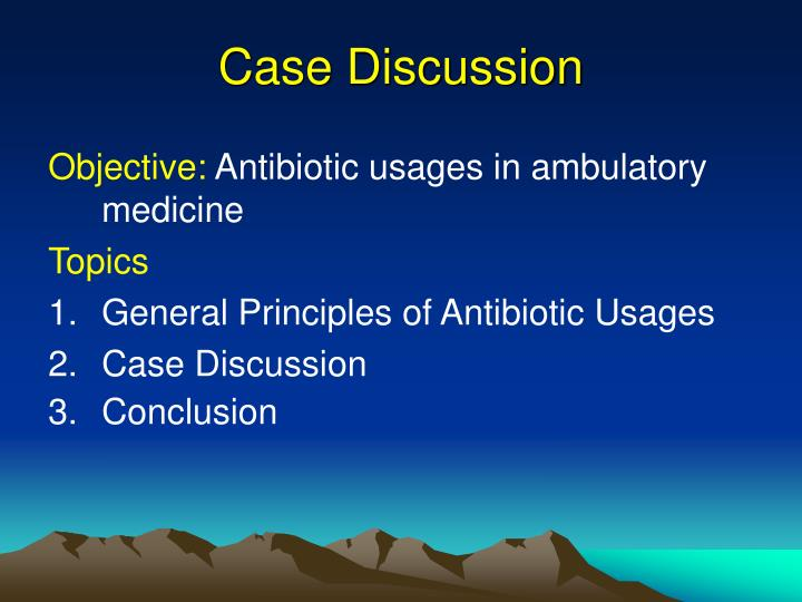 case discussion n.