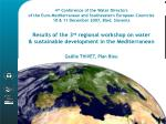 4 th  Conference of the Water Directors