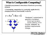 What is Configurable Computing?