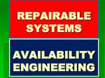REPAIRABLE SYSTEMS