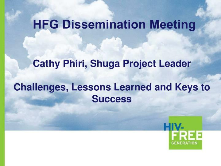 cathy phiri shuga project leader challenges lessons learned and keys to success n.