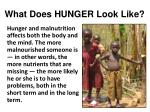 What Does HUNGER Look Like?