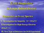 Diagnostics on X-ray Spectra