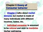 Chapter 6 theory of Consumer behavior
