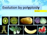 Evolution by pol y ploid y