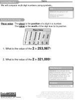 We will compare multi-digit numbers using symbols 1 .