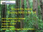 Silicon Microstrip Tracking R&D in the US