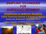SAMPLING TECHNIQUES FOR SUSPENDED SEDIMENT
