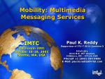 Mobility: Multimedia Messaging Services
