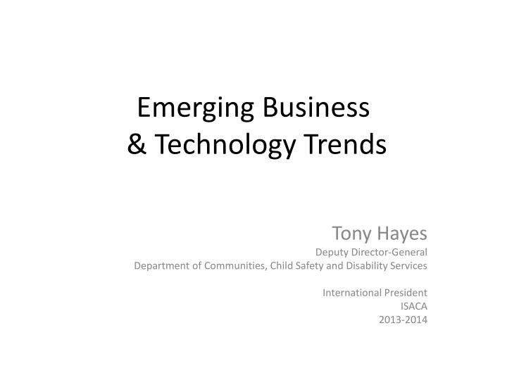 emerging business technology trends n.