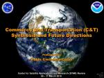 Commerce and Transportation (C&T) Synthesis and Future Directions