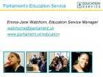 Parliament's Education Service